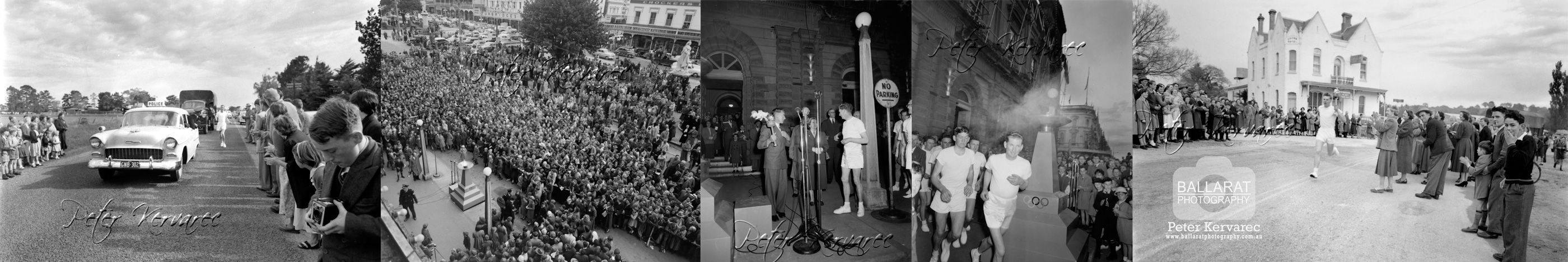 Ballarat Photography 1956 Olympic Torch Relay