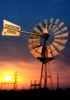 Energy Sun Windmill Electricity Ballarat Stock Photography