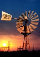 Energy Sun Windmill Electricity Ballarat Stock Photography