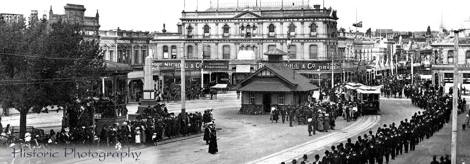 Beaufort Rail Accident, Funeral, 1910, Sturt St Ballarat, Ballarat Photography